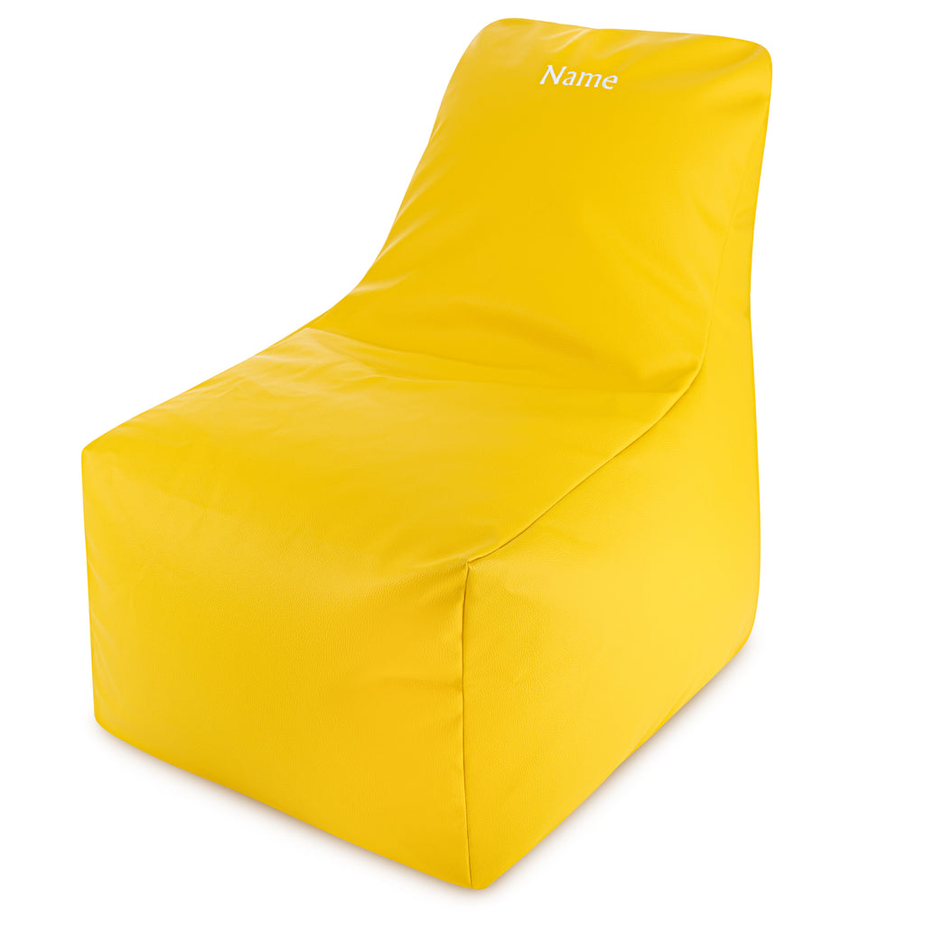 Personalised Yellow Lounger Garden Bean Bag