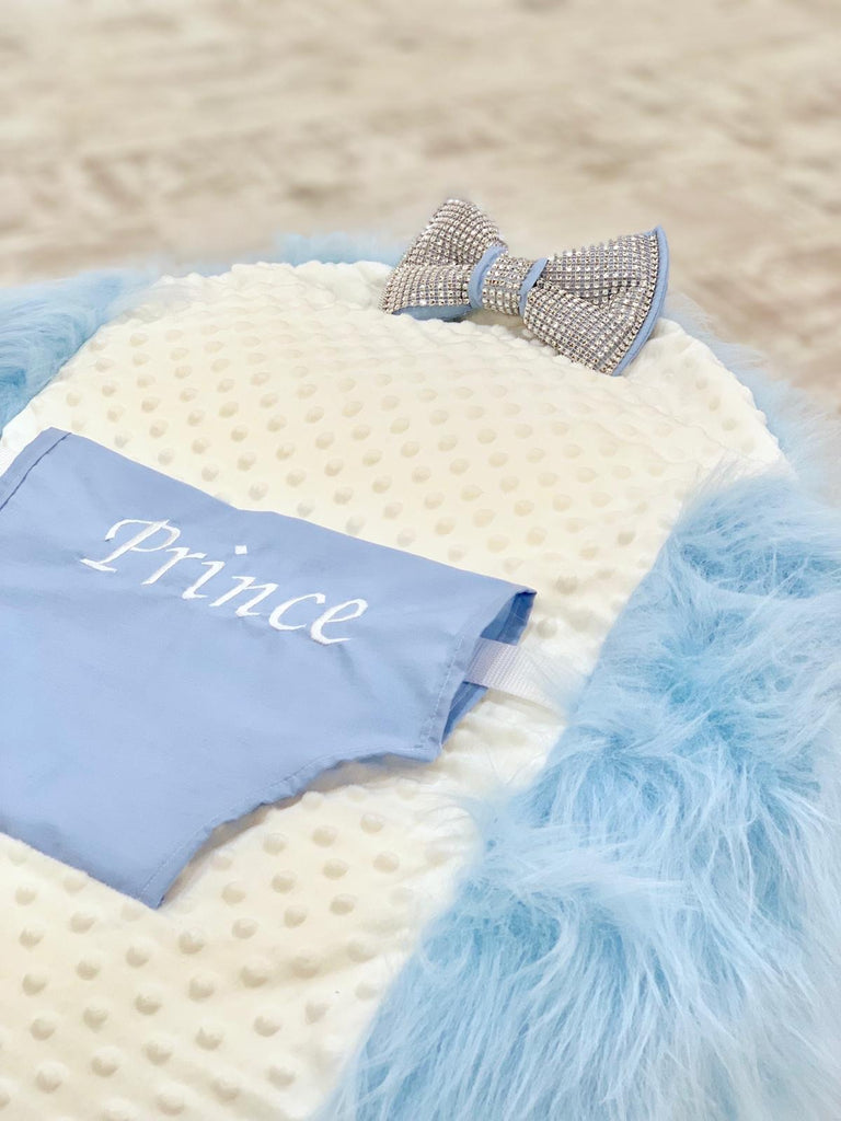 Personalised Blue Fur Baby Bean Bag