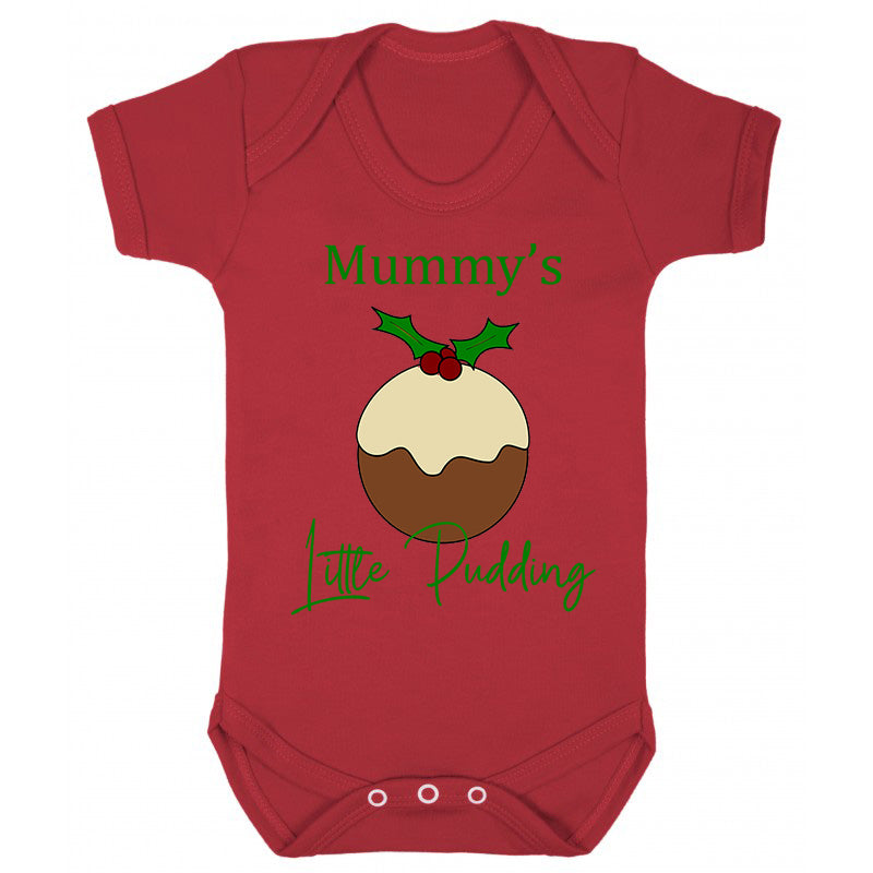 Mummy's Little Pudding Christmas Baby Vest