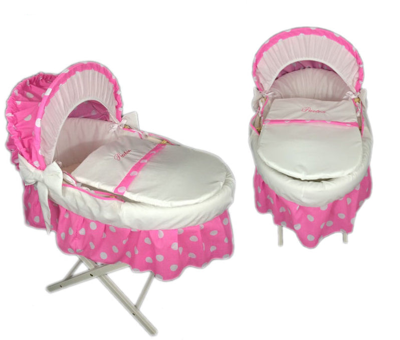 pink-polka-dot-skirted-moses-basket