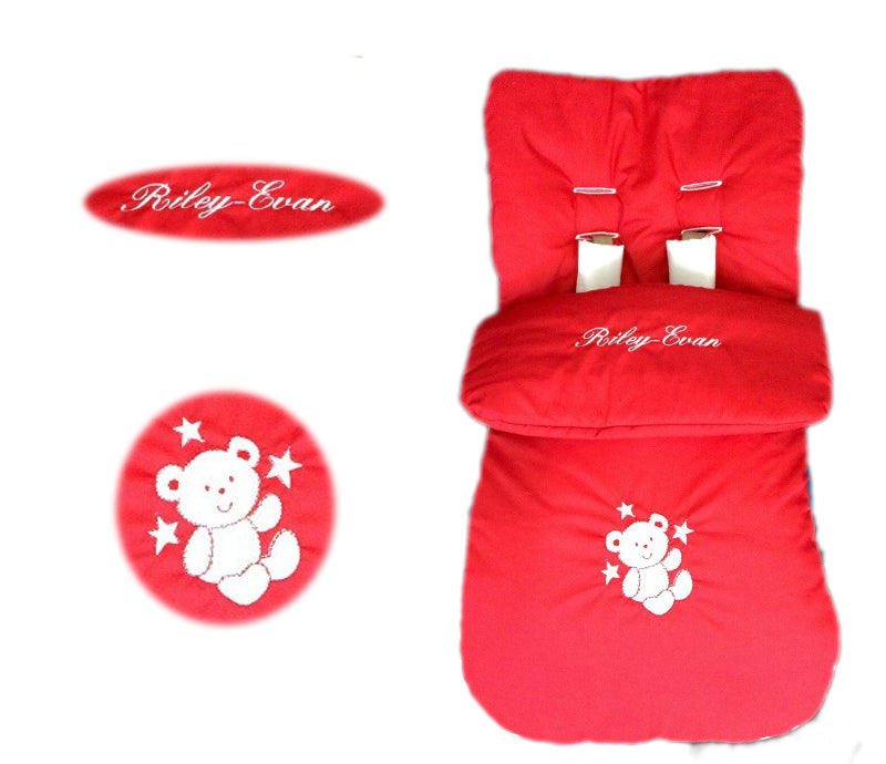 red-teddy-footmuff