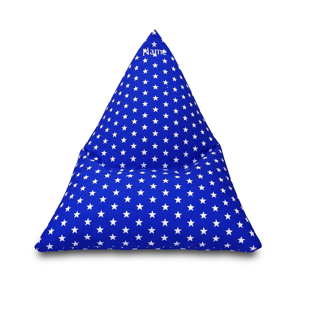 Personalised Royal Star Children's Triangle Bean Bag