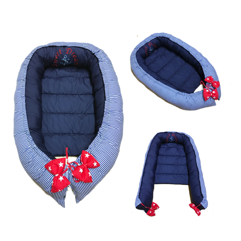 Personalised Nautical Baby Sleep Nest Pod