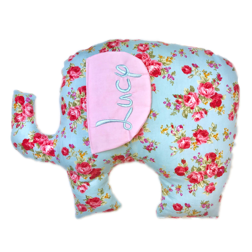 vint floral elephant coushion web