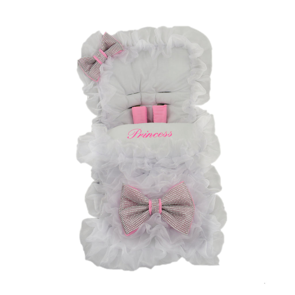 white extra frill pink bow footmuff web-2