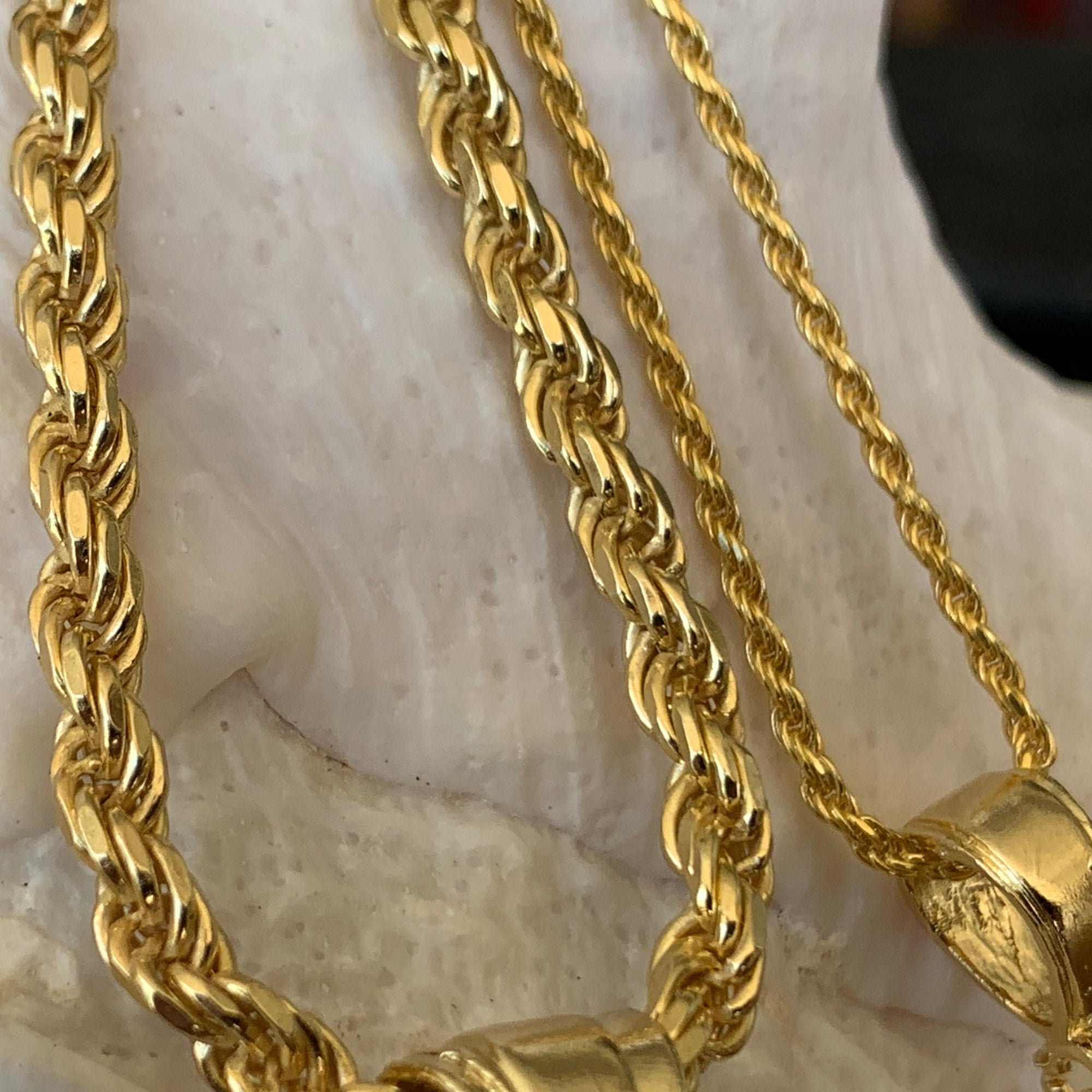14K Gold Plated Rope Chains