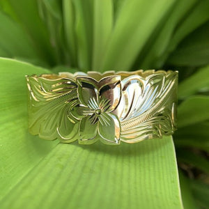 28MM - Hawaiian Scroll Bangle 14K Gold Plated