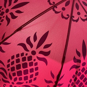 Hawaiian Quilt Print Pineapple Umbrella in Pink