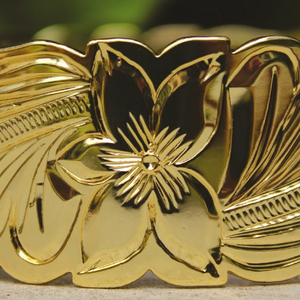14K Gold Plated Hawaiian Scroll Bangle - 28mm Details