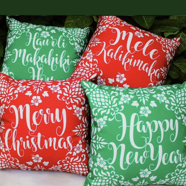 Hawaiian Holiday Pillows 4 Shot