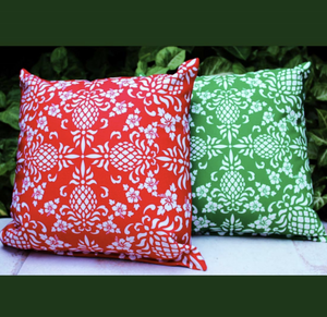 Hawaiian Holiday Pillow Back