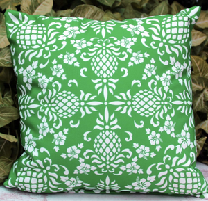 Hawaiian Holiday Pillow Green Back