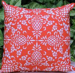 Hawaiian Holiday Pillow Red Back