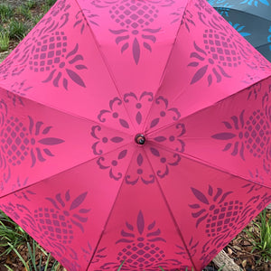 Pink Hawaiian Pineapple Print Umbrella