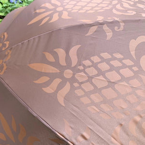Brown Hawaiian Pineapple Print Umbrella