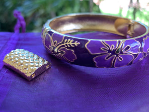 Hibiscus Flower Bangle w/ New Extension