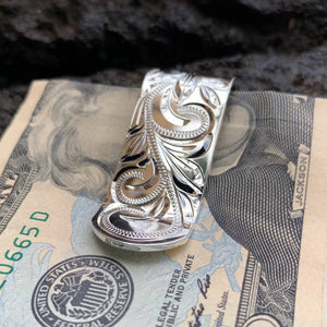 Hawaiian Scroll Money Clip Front