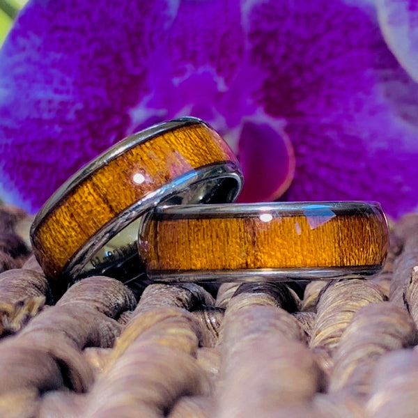 Koa Stainless Steel Ring