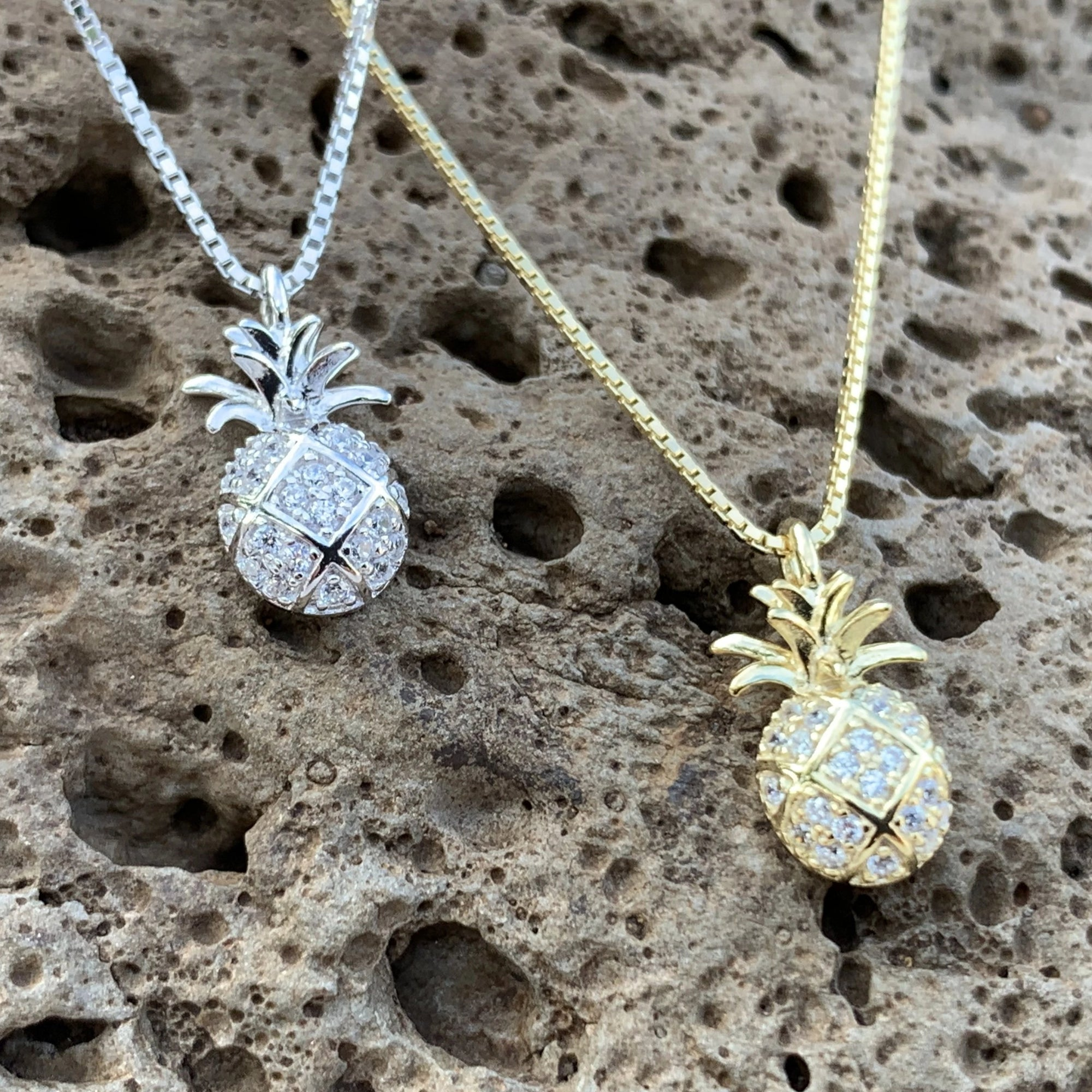 Petite Pineapple Pave Pendant Necklace