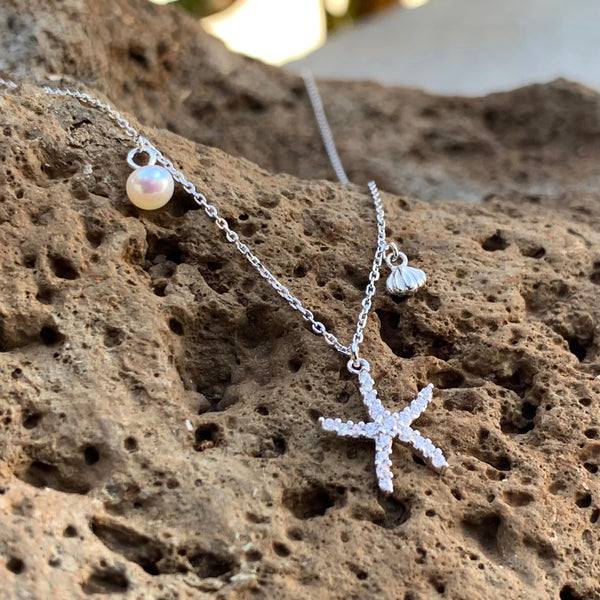 Seascape Charm Necklace Sterling Silver