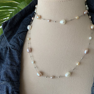 Double Strand Dew drop pearl necklace