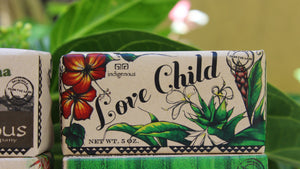 Love Child soap closeup