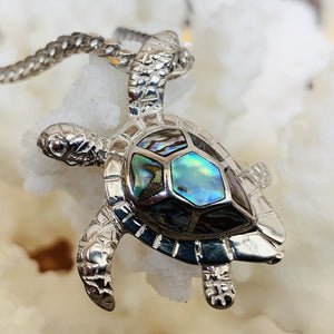 Mother of Pearl Honu on Franco Chain
