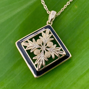 Hawaiian Pillow Quilt Jewelry Pendant