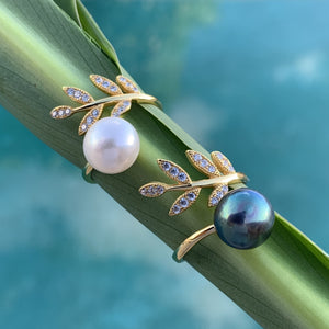 Maile Pearl Wrap Ring
