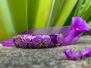 Hibiscus Flower Bangle Bracelets w/ New Extension