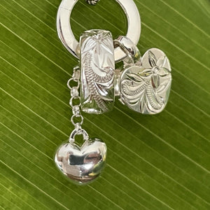 Charming Hearts Scroll Heart Necklace