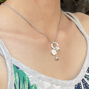 Charming Hearts Hawaiian Scroll Floating Pendant
