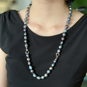 Baroque Black Pearl Long Strand