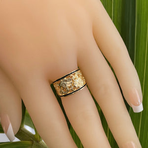 Hawaiian Scroll Cutout  Ring