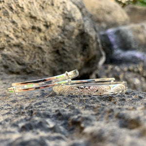6MM Keiki Hawaiian Scroll Bangle