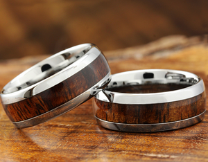 Koa Tungsten Ring