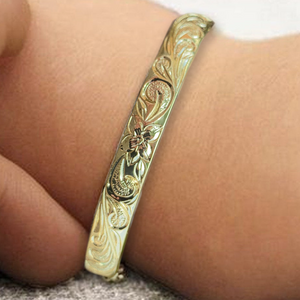 Adjustable Child Hawaiian Scroll Bracelet