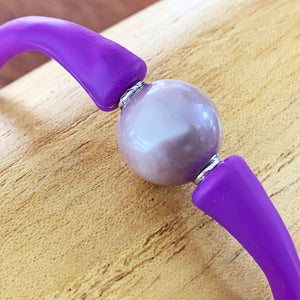 Edison Pearl Flex Silicone Bracelet in Purple