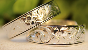 Hawaiian Scroll Cuff in .925 Sterling Silver 2 Widths