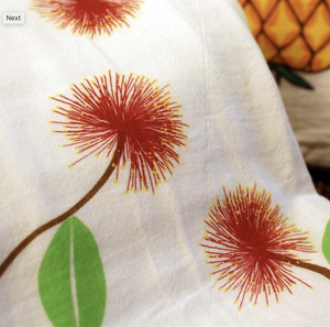 Hawaiian Style Towels Lehua Closeup