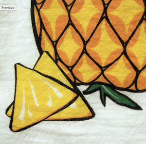 Hawaiian Style Towels Pineapple Closeup