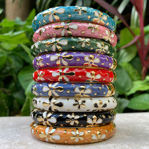 Tiare Style Hinged Bangle all nine colors