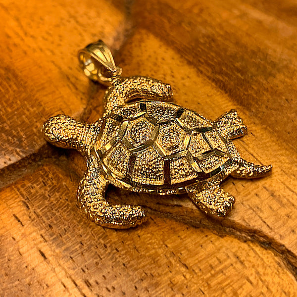 Solid 14K Gold Honu