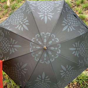 Hawaiian Quilt Pineapple Print Umbrella Grey