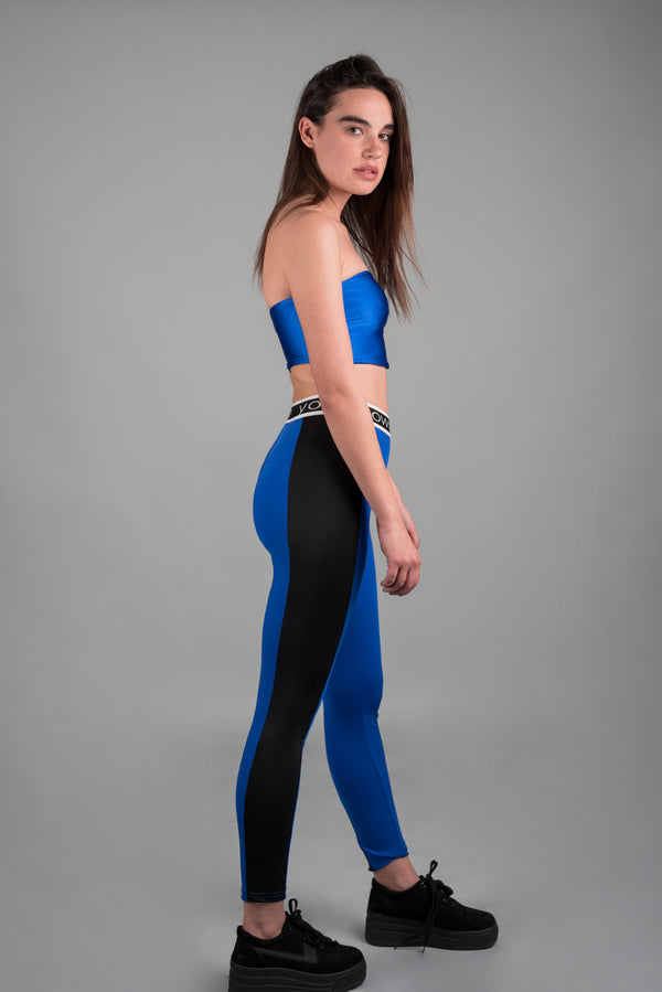 LEGGINGS WITH NEON CONTRASTING SIDES