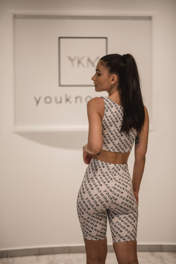 YKM PRINT SLEEVELESS TOP