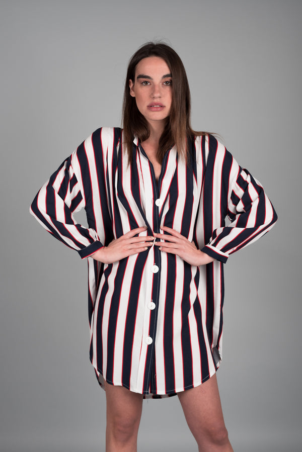 MAO STRIPED OVERSIZED SHIRT