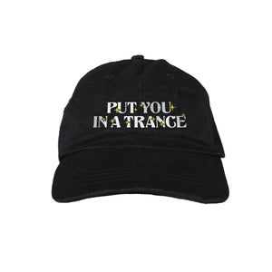 DMY x Morgan Hislop 'PUT YOU IN A TRANCE' Embroidered Black Cap