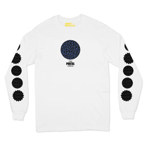 DMY x Morgan Hislop 'THE PORTAL OPENS' White Long Sleeve T-Shirt
