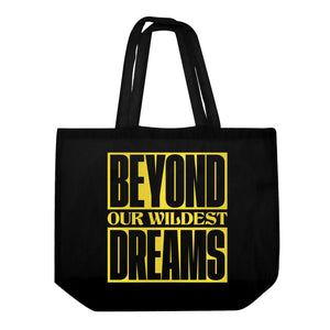 DMY x Morgan Hislop 'BEYOND OUR WILDEST DREAMS'  Black Oversize Tote Bag